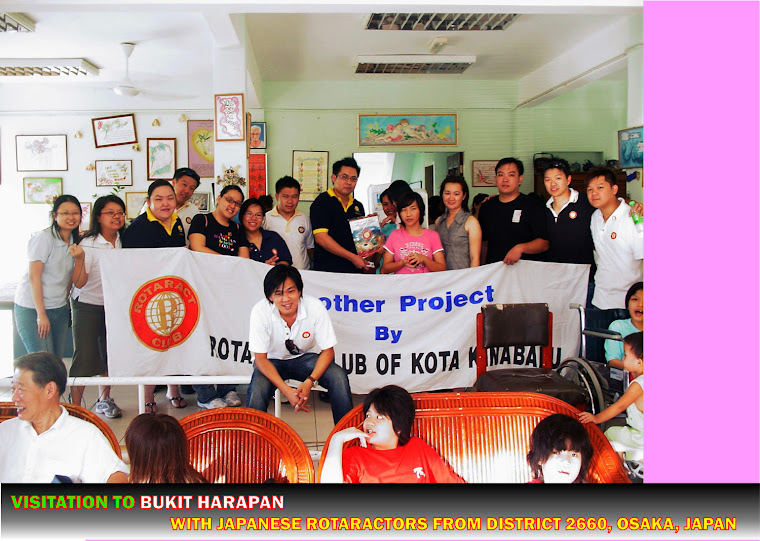 Visitation to Bukit Harapan with Japanese Rotaractors from District 2660 (1st November 2008)