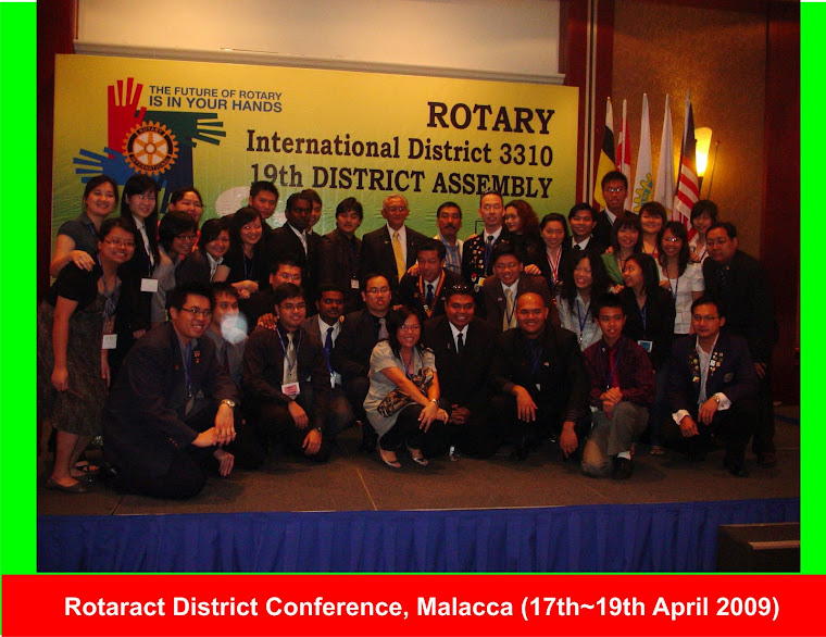 Rotaract District Conference, Malacca (17th-19th April 2009)