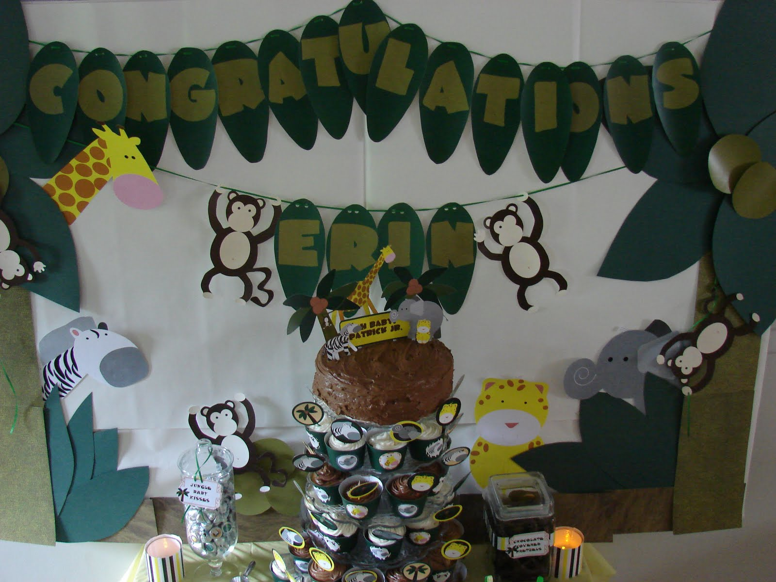 Clickable party jungle baby shower for Baby shower party junge