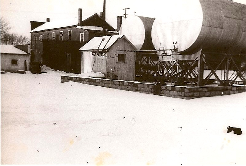 Back Of Photo Old Bulk Plant In New Vienna Ohio Main St Was Next To Irons Building Which Daye Hardware Now The Antique Mall