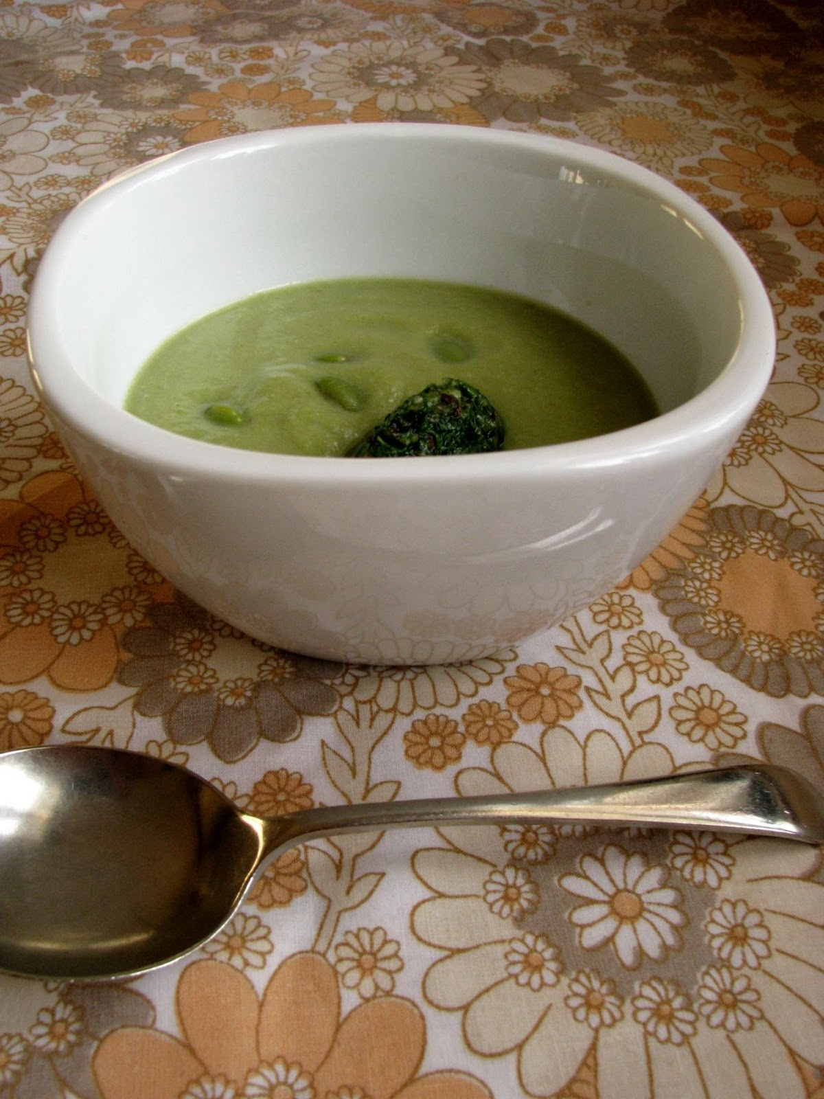 asparagus and edamame soup with rocket pesto recipe – My Darling ...
