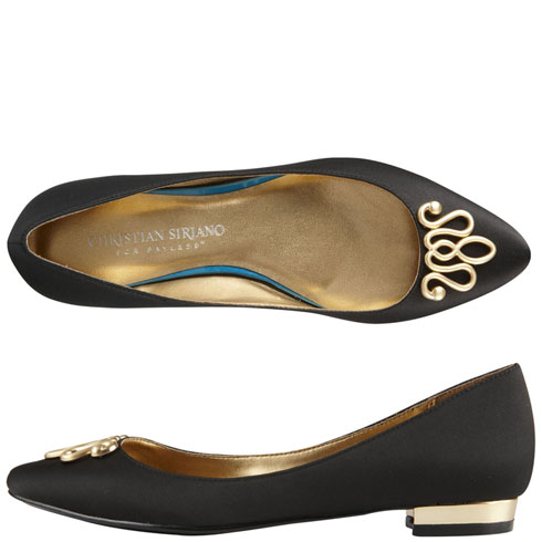 Payless: Dexflex by Dexter Claire Scrunch Flat in Gold ($) // Simple, chic & comfortable. I already have these in black, and everyday I have to resist the urge to buy them in every color.
