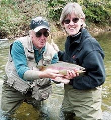Ladies enjoy flyfishing with a guide too!
