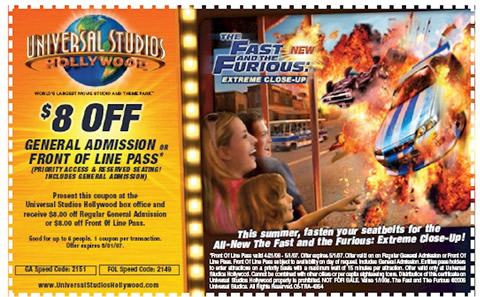 Universal studio hollywood ticket coupons