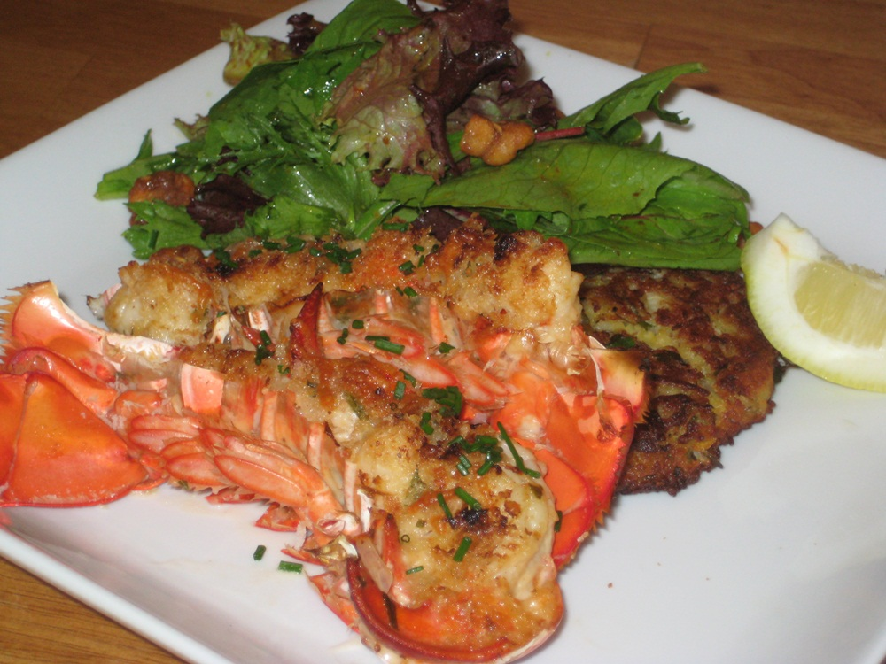 Lobster tail vinegar lobster house for Triple tail fish recipes