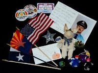 Memorial items left during Police Week 2009