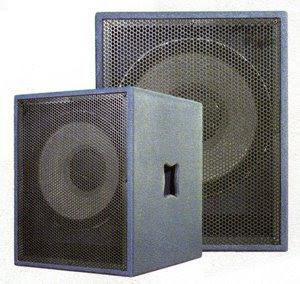 professional audio system equipment single 15 sub woofer freq response