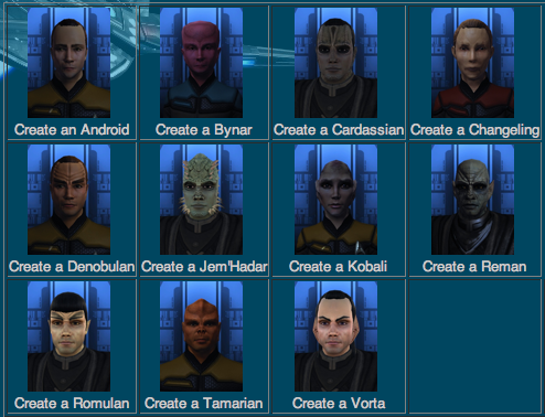 Create Star Trek Races