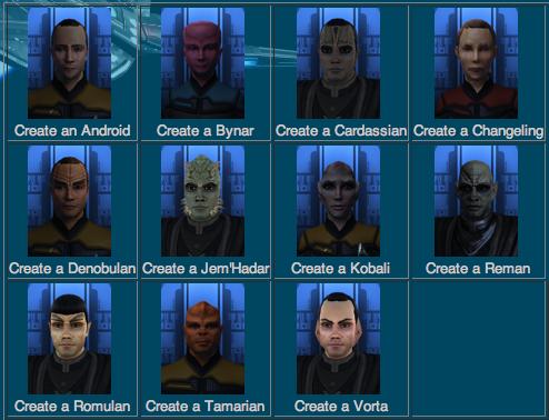 Create Star Trek Races