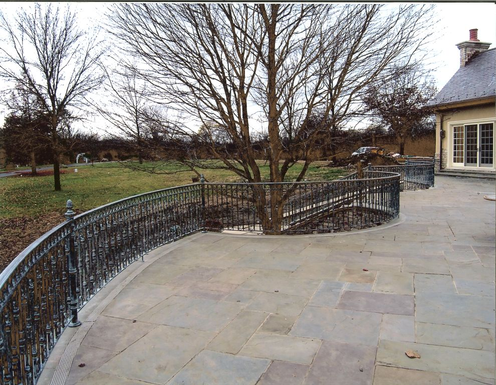 Island city forge terrace railings in chicago for Terrace railing