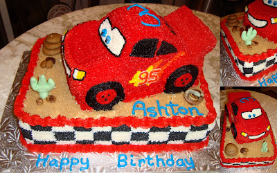 Cars Birthday Cake on This Pixar Cars Themed Cake Was Created For Ashton S 3rd Birthday A
