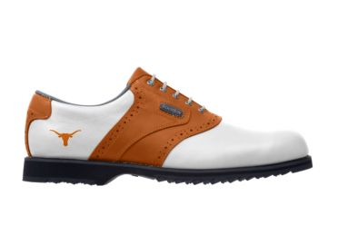Burnt orange UT Longhorns  golf shoes.
