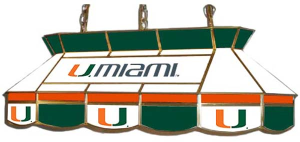 university of miami. University of Miami pool table