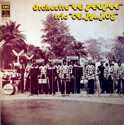 """Cover Album of """"Orchestre le Peuple"""" """"Trio Ce.Pa.Kos"""",PathГ© Marconi / EMI 1975"""