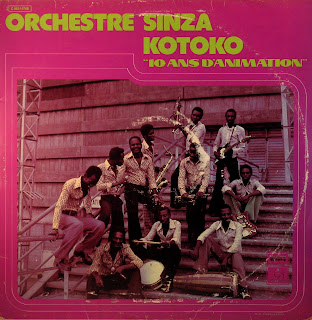 Orchestre Sinza kotoko - 10 Ans d'Animation,PathГ© Marconi / EMI 1976C 062-15768