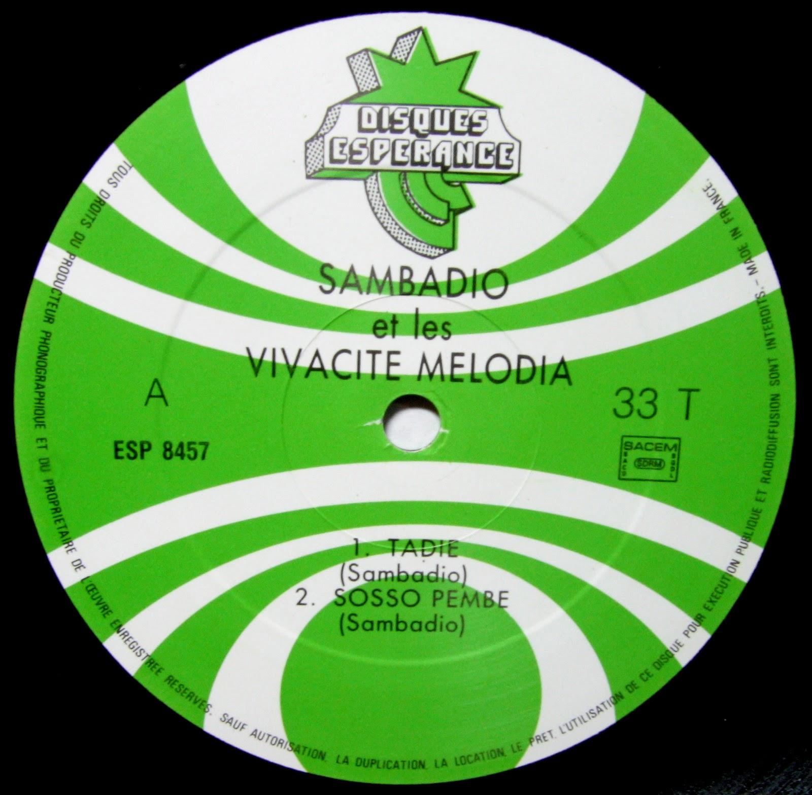 Sambadio et les vivacit melodia tadie disques for 1988 music charts