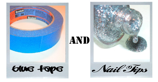 Blue Tape and Nail Tips