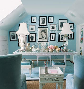 Many Of You Have Already Seen Mary McDonalds Gorgeous Office Which Is Painted With Robins Egg Blue Doesnt It Look Like A Tiffanys Box Just