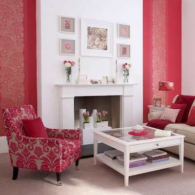 wallpaper ideas living room. red wallpaper for living room.