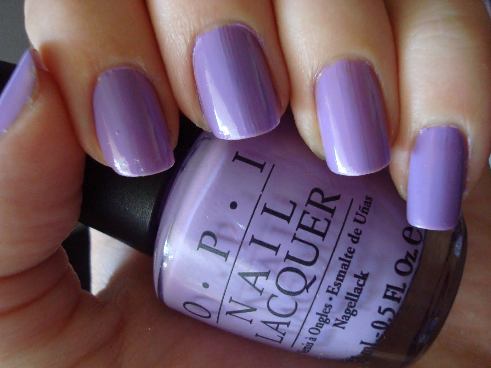 Light Purple Nail Polish Opi My non-nail related bit