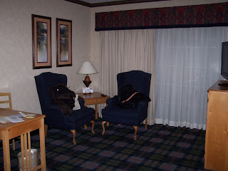Sitting area in guest room