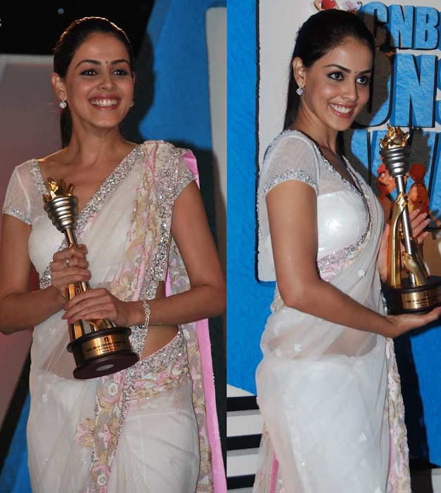 bubbly babe genelia flaunts in saree actress pics