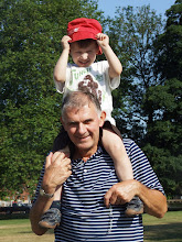 Leo and Grandad, July 2009
