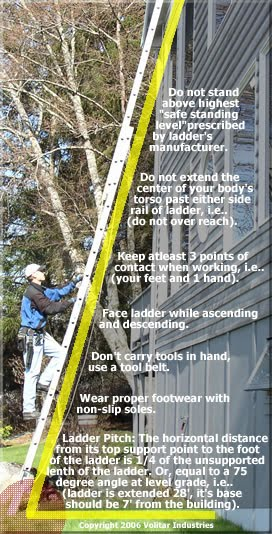Extension Ladder Safety : Dutch touch stay informed window cleaning ladder