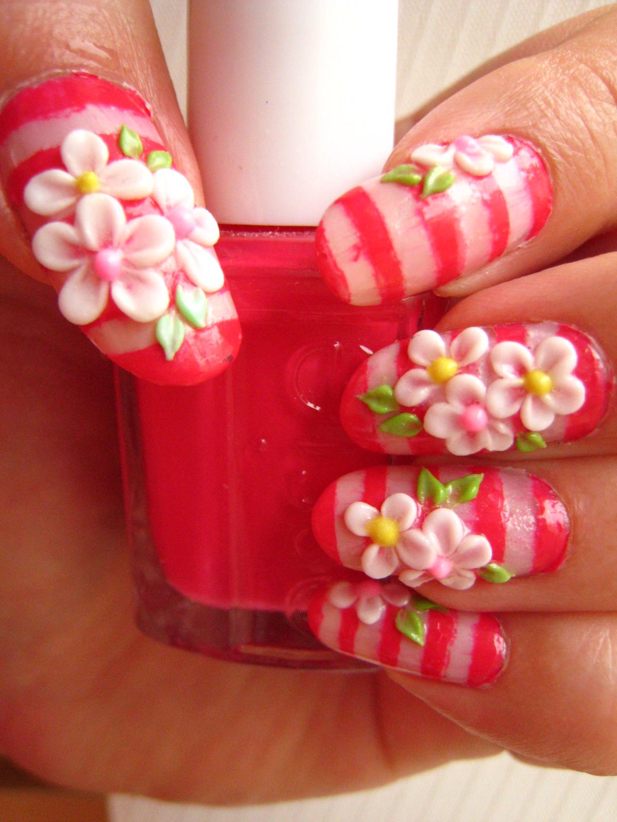3d acrylic flowers nail art 3d acrylic essie nail