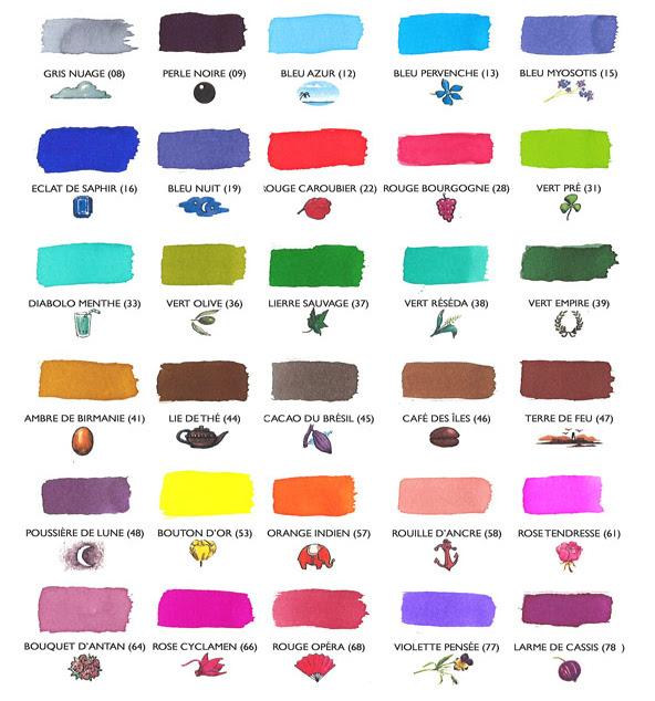 La ladrona de arte colores de cartuchos de tinta j herbin - Que colores combinan con el lila ...
