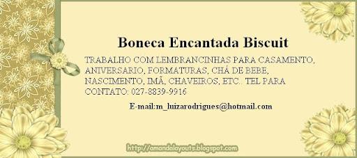 BONECA ENCANTADA BISCUIT