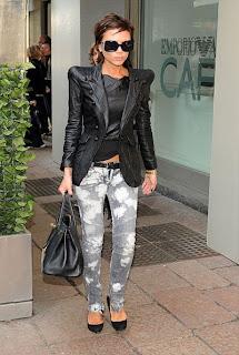 Victoria Beckham in Balmain