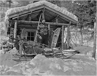 This Is A Picture Of The Late Charlie Ott, Associated With The Park For 50  Years, In Front Of The Pearson Cabin On The Toklat River.