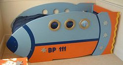 Rocket Toddler Bed space ship bed plans - pics about space