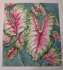 Watercolor Wedding Leaves