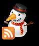 icono rss navidad muñeco de nieve