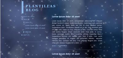 plantilla blog blogger noche de estrellas