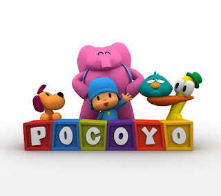 Pocoyo with duck, Loula, Elly and pajaroto  Images pocoyo