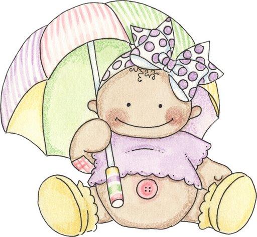 Imágenes de bebes para imprimir; Imagen de bebe con sombrilla