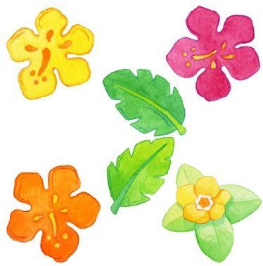 Flores y más flores; Imagenes infantiles de flores para imprimir