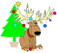 christmas idea moose
