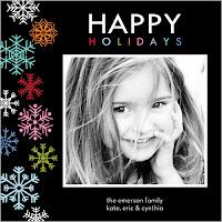 mod snowflake card
