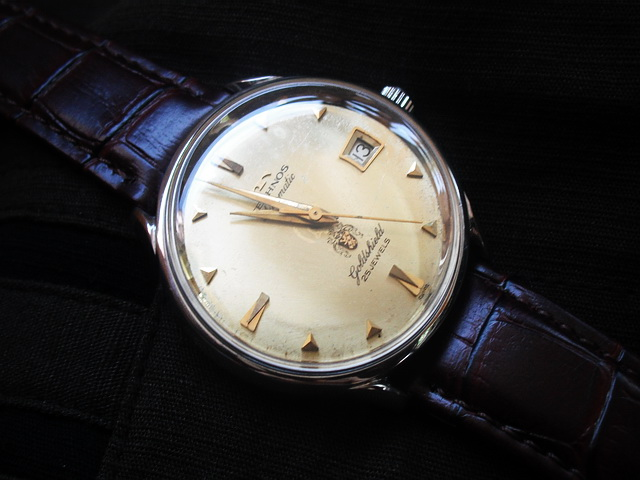 Jam otai vintage watches nice vintage technos goldshield swiss automatic 25 jewel sold for Technos watches