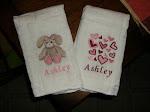 Customized baby burp cloths.