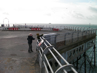 throwing stones off Southsea pier