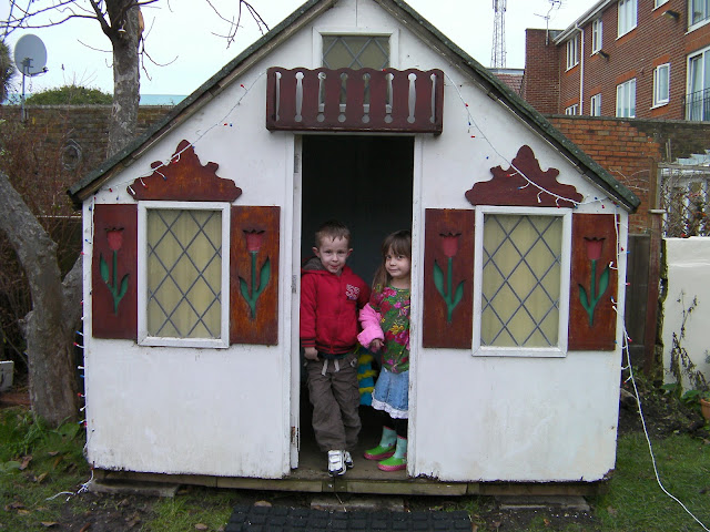 the new homestead, wooden wendy house