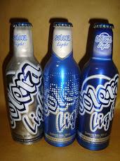 Colección completa de botellas de aluminio Sudamericanas.