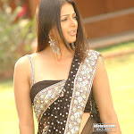 Hot Bhumika Chawla In Black Saree - Sexy Poses - Tollywood Actress