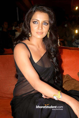 Celina Jaitly Pictures Deep Cleavage in Saree
