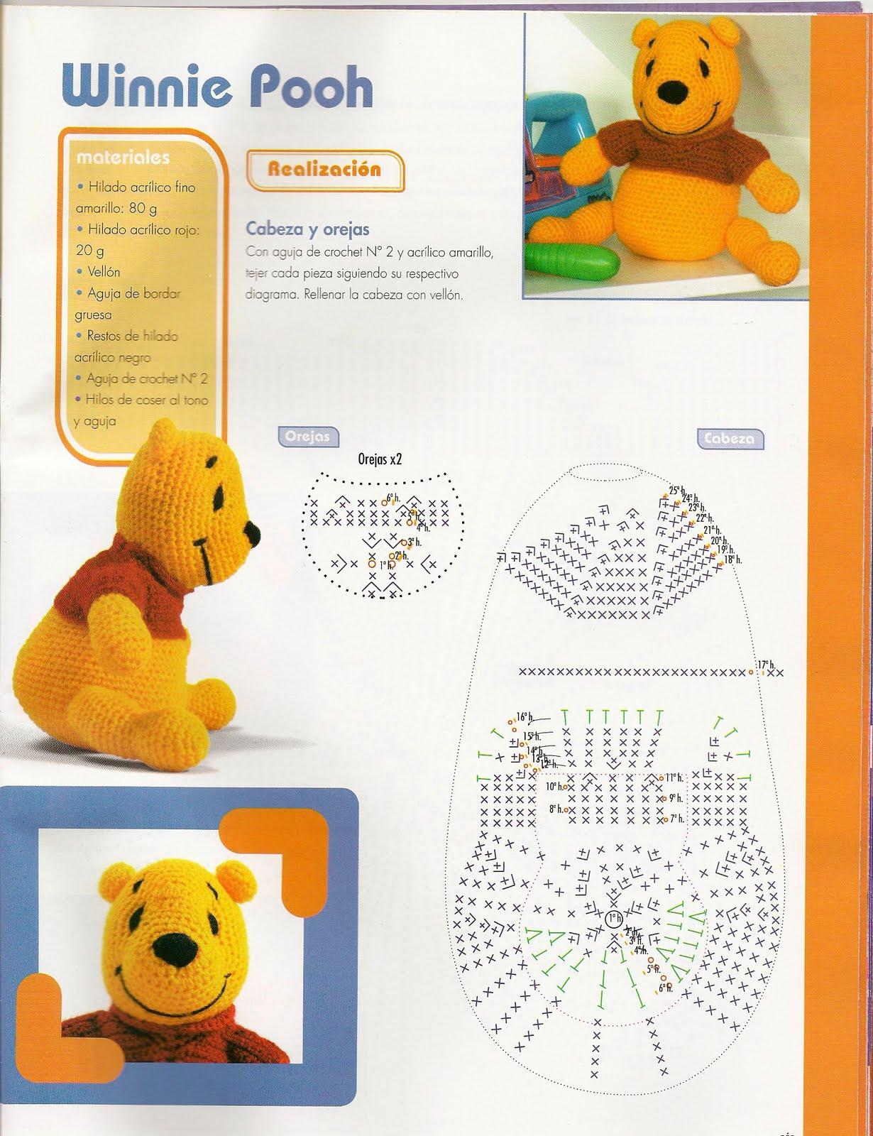 compartiendo crochet: Winnie Poo